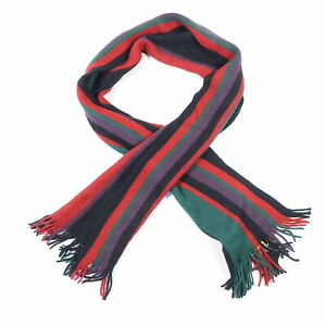 ALFANI STRIPED GREEN RED KNIT SOFT SCARVES NECK SCARF MENS NWT NEW