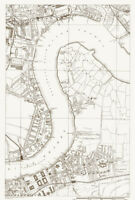 MILLWALL EAST WEST INDIA DOCKS POPLAR THAMES BLACKWALL TUNNEL RAILWAY MAP 1928
