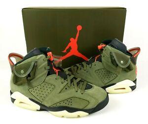 Nike Travis Scott Air Jordan 6 Retro Cactus Jack Mens Size 9 Olive CN1084 200