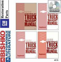 OEM Repair Shop Manual CD Chevy All Models w/ Truck & Van Supplements 1963-1966