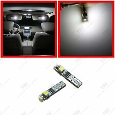 4x 74 T5 37 Bright White 3-SMD LED Bulb for Sun Visor Vanity Mirror Lights