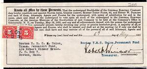**USA = 5c Documentary Revenue on G. E. C. Stockholder document. 1925. (O0700d)