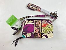 Vera Bradley Womens' All in One Crossbody Wristlet Plum Crazy Colored Design