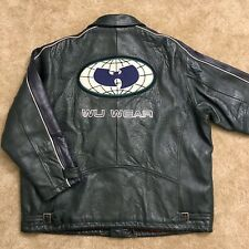 Wu-Wear Jacket Size 3XL Wu-Tang Leather Vintage Rare Rza Gza Coat