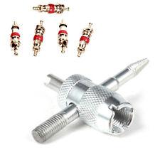 Outil démonte obus 4 en 1 démontage valve pneus auto moto vélo + 5 obus - NEUF