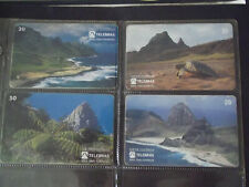 OCEANIC ISLANDS 1995 Complete Set 4 Different Phone Cards from Brazil