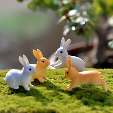 4 x Kawaii Bunny Dolls House Rabbit Decoration Miniature Kids Toys Handmade