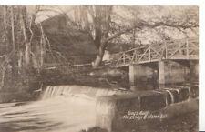 Warwickshire Postcard - Guy's Cliff - The Bridge & Water Fall - Ref 3765A
