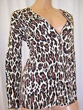 NWT SZ 2XL GRACE ELEMENTS BLK/BRN ANIMAL PRINT CARDIGAN SWEATER XXL NWT