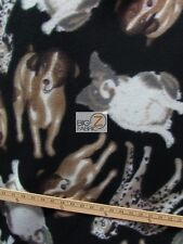 "DOG PACK FLEECE POLAR PRINTED FABRIC 60"" WIDTH SOLD BY THE YARD 821"