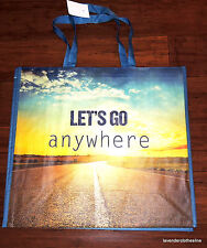 Homegoods XL LETS GO ANYWHERE Reusable Shopping Travel Tote Wedding Gift Bag NEW