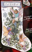 Bucilla Fairies and Snowflakes Christmas Cross Stitch Stocking Kit 84828