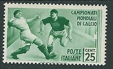 1934 REGNO MONDIALI DI CALCIO 25 CENT MH * - W265