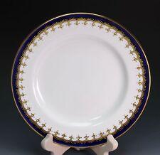 Aynsley China Laurette Cobalt Blue Gold 8213 Dessert Pie Plate - Smooth Border
