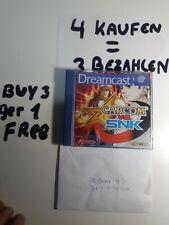 Capcom vs SNK Dreamcast very good Case, MINT paperwork and Disc 5 main languages