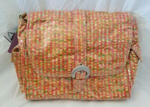 Kalencom Striped Laminated Buckle Diaper Bag NIP