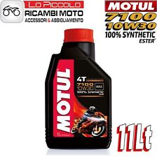11 LITROS LT ACEITE MOTOR MOTUL 7100 4T 10W30 100% SINTÉTICO ESTER MA2 RACING
