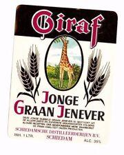 Netherlands - Label - Schiedamsche Distilleerderijen - Giraf Jonge Graan Genever