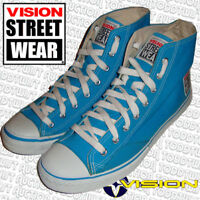 VISION STREET WEAR '80s Skateboard Shoes Turquoise Canvas Hi Tops 9 UK / 10 USA