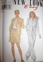 6341 Vintage NEW LOOK Sewing Pattern Misses Dress 10-22 UNCUT OOP NEW FF 1990's