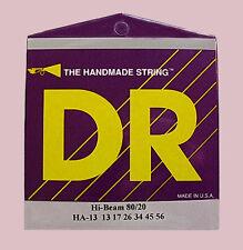 DR Acoustic Guitar Strings, HA-13 Hex Core, Hi-Beam 80/20, Medium Heavy 13-56