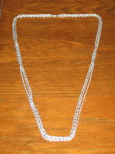 ALUMINUM 3 Strand Scroll Chain 44 inch Necklace Vintage