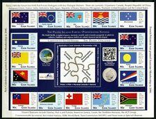Islas Cook 2012 banderas banderas Pacífico Foro ZD arco 1740 1769 menta MNH