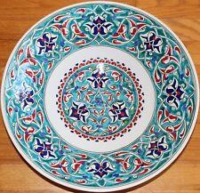 """16"""" Handmade Iznik Carnation & Cintemani Pattern Ceramic Plate Bowl"""