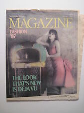 Louisville Kurier Zeitschrift Magazin 1987: achtziger Mode'87! Susan Stevens!