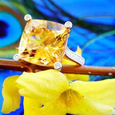 Brillant Citrin Ring 750er Gelbgold 9 ct 0.16 ct  SQUAREDANCE  SW ca. 2.320.-EUR