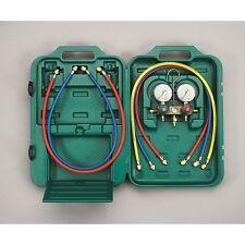 2-Wege Monteurhilfe Klimaanlage R22, R410a, R407c Set 2 Füllschläuche Manometer