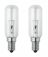 2x Cooker hob hood extractor light bulbs 40W E14 SES Small Edison Screw