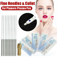 50Pcs Fine Straight Needles & Collet for Plamere Plasma Pen Mole Remover Machine