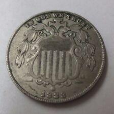1883 Shield Nickel (Die Cracks/Variety) AU (c)