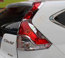 For Honda CRV CR-V 2012 2013 2014 Chrome Rear Tail Light Lamp Cover Trim 4pcs