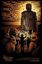 THE WICKER MAN OFFICIAL POSTER LIMITED EDITION SCREEN PRINT SIGNED DAN MUMFORD
