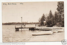 ELY MN 1941 Moose Lake Boat Dock & Bathing Beach Hibbard's Lodge PHOTO POSTCARD