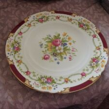 "Shelley ""Dubarry"" Maroon 13395 Pair of Dessert Plates 9"""