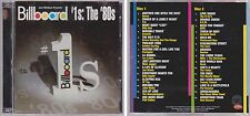 Billboard #1's Hits of the 80s Various Artists 2004 Rhino 2 CD Set Mick Jagger