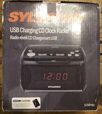 Sylvania Usb charging clock radio with Cd player and Am/Fm Radio