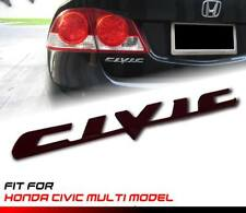 Black CIVIC Letter Logo Emblem Badge Sticker 1Pc For Honda Multi Model