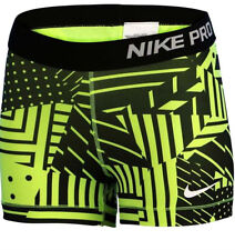 Nike  XS PRO COOL GRAPHIC Compression Training Shorts NEW 811485 702 Black Volt