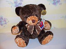 "Dan Dee Dandee Two Toned Teddy Bear 9"" Stuffed Animal Plush Toy With Tags"