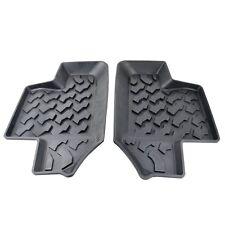 New Rear Row Black Rubber Floor Mats Liner Carpets For Jeep Wrangler JK 2 Doors