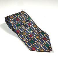 90s Vintage GIANNI VERSACE Mens Tie | 100% Silk Made in Italy Medusa Blue