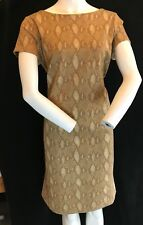 BNWT RALPH LAUREN Dreenie Soft StretchTan Multi Short Sleeve Casual Dress. UK L