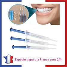 Kit de Blanchiment Dentaire Professionnel 3 seringues de Gel pour Dents Blanches