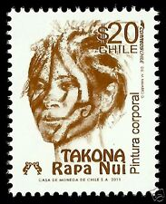 CHILE, EASTER ISLAND BODY PAINTING, TAKONA, RAPA NUI, MNH