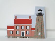 Cat's Meow 1991 Charlotte Genesee Lighthouse, Wood Shelf Sitter Rochester, Ny