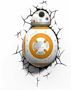 Star Wars BB-8 3D Deco Light With Cracked Wall Effect Sticker in box